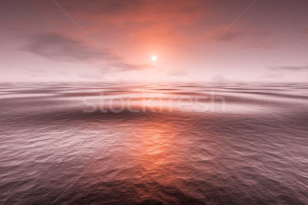 a red sunset over the sea Stock photo © magann