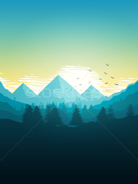 Stock photo: beautiful mountain landscape