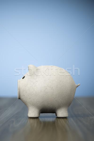papier mache piggy bank background Stock photo © magann