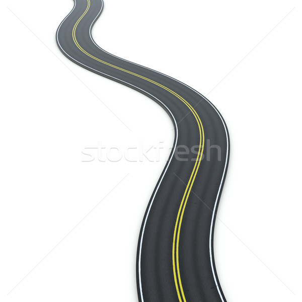 a winding road icon graphic Stock photo © magann