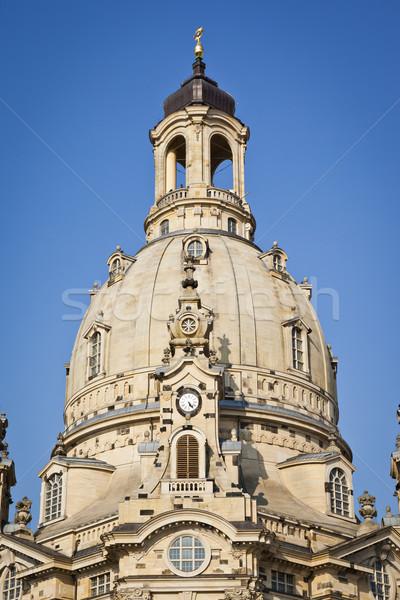 Dresda immagine noto Germania clock chiesa Foto d'archivio © magann
