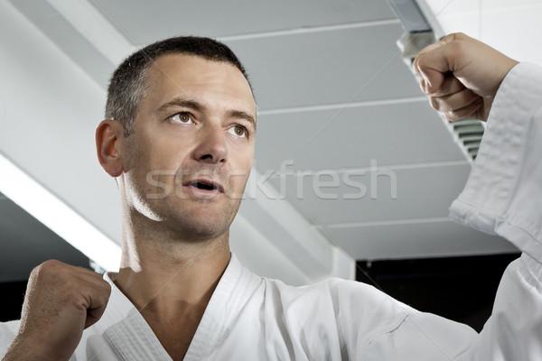 Arts martiaux maître image homme sport santé Photo stock © magann