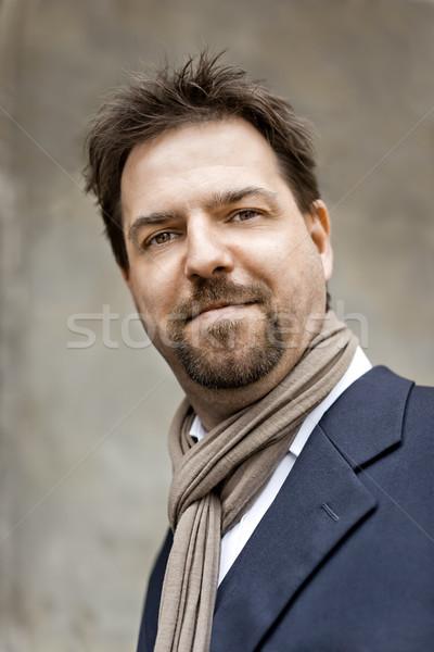 ハンサムな男 ヤギひげ あごひげ 幸せ ビジネスマン 執行 ストックフォト © magann