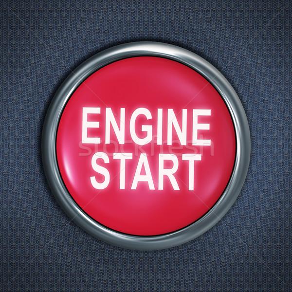 Stock photo: start engine