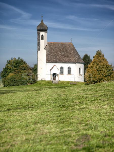 Iglesia imagen agradable cielo cruz árboles Foto stock © magann
