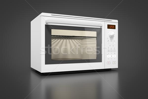 типичный современных микроволновая печь изображение часы дизайна Сток-фото © magann