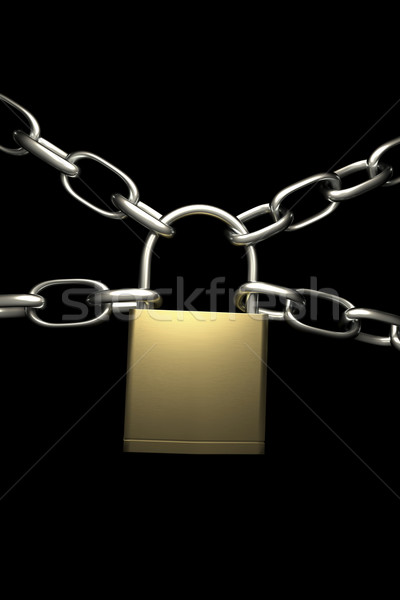 lock with four chains Stock photo © magann