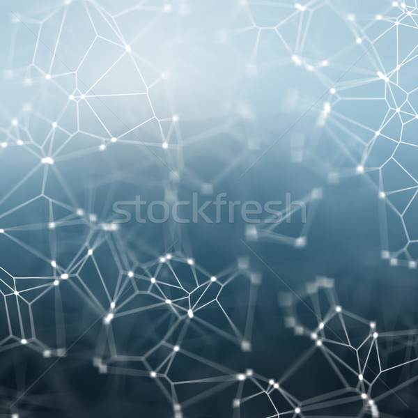 blue abstract network background Stock photo © magann