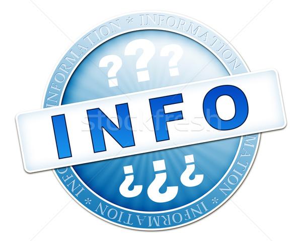 情報をもっと見る ボタン 青 画像 ビジネス インターネット ストックフォト © magann
