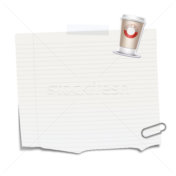 Kâğıt mesaj bo ofis arka plan imzalamak Stok fotoğraf © magann