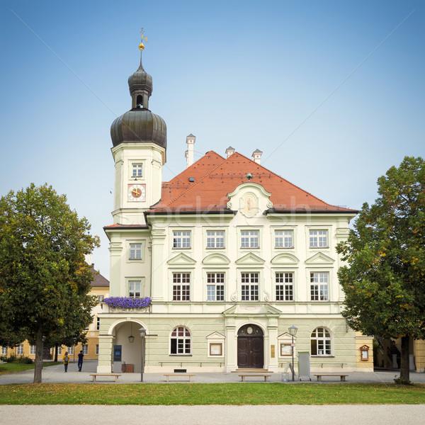 ストックフォト: 町役場 · 画像 · 青 · アーキテクチャ · 町 · 政府