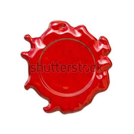 Rosso cera sigillo illustrazione sfondo mail Foto d'archivio © magann