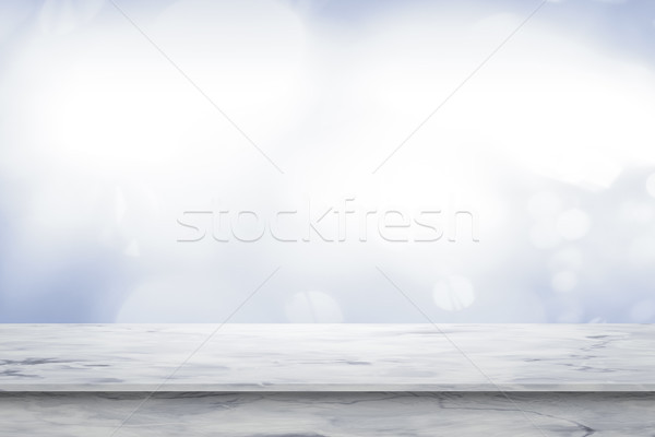 Lege witte marmer tabel top 3D Stockfoto © magann