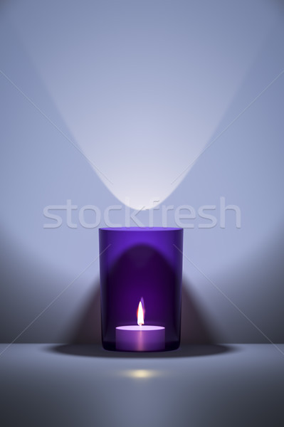 purple candle with space for your content Stock photo © magann