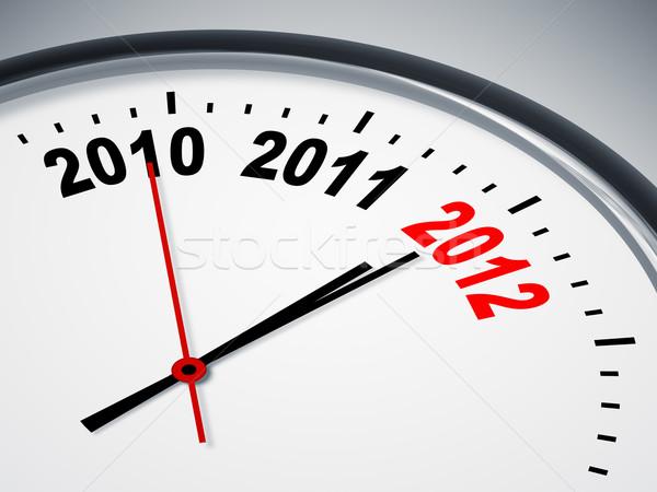 Volgende jaar afbeelding mooie klok 2010 Stockfoto © magann