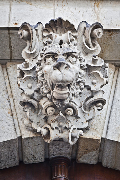 Gezicht sculptuur dresden afbeelding Duitsland gebouw Stockfoto © magann