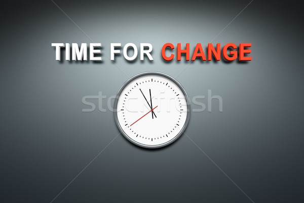 Time for change at the wall Stock photo © magann