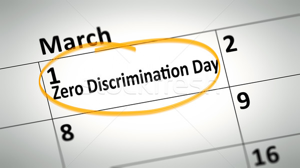 Zero Discrimination Day first of March Stock photo © magann