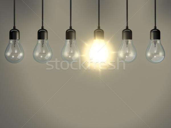 some bulbs one is lighting Stock photo © magann