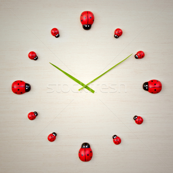 ladybird clock Stock photo © magann