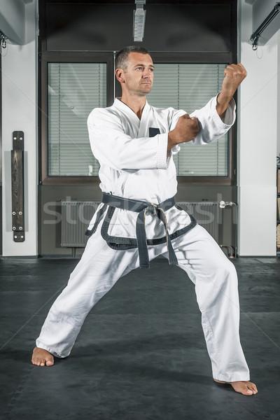 Artes marciais mestre imagem homem esportes caixa Foto stock © magann