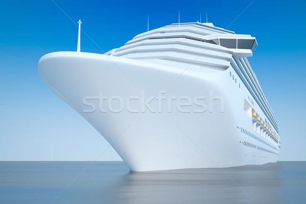 Cruiseschip afbeelding mooie blauwe hemel zee Blauw Stockfoto © magann