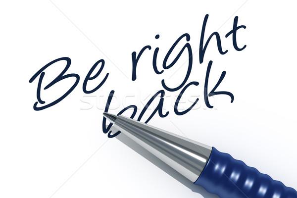 Photo stock: Image · stylo · un · message · Retour · affaires