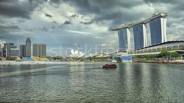 Сток-фото: Сингапур · марина · изображение · известный · бизнеса · воды