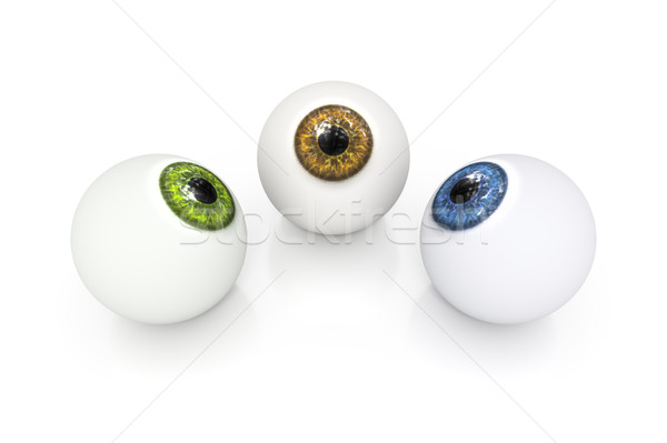 Stock photo: brown green and blue eyeball