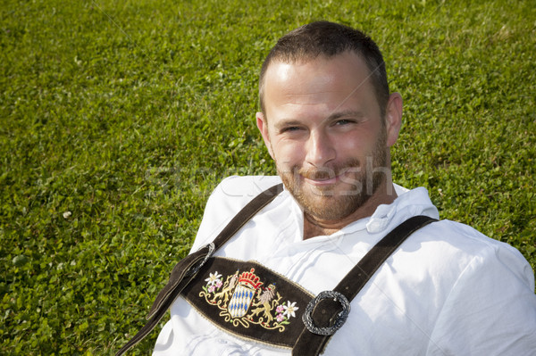 bavarian tradition man in the grass Stock photo © magann