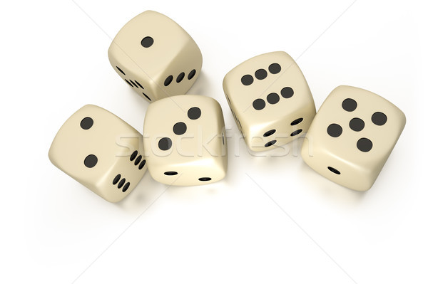 five dice Stock photo © magann