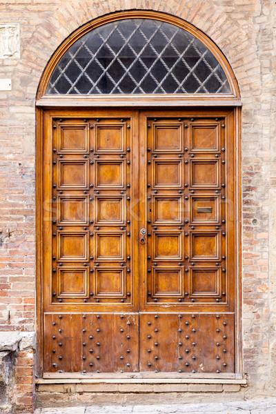 Door Siena Stock photo © magann