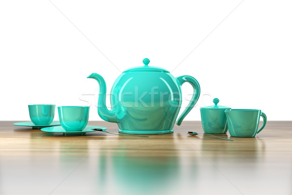 teapot and teacup Stock photo © magann