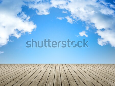 wooden jetty blue sky  Stock photo © magann