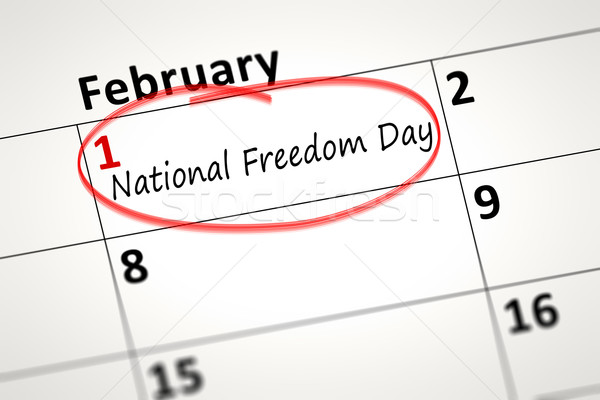 National Freedom Day first of February Stock photo © magann