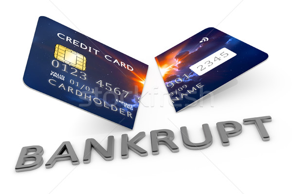 cut credit card bankrupt Stock photo © magann