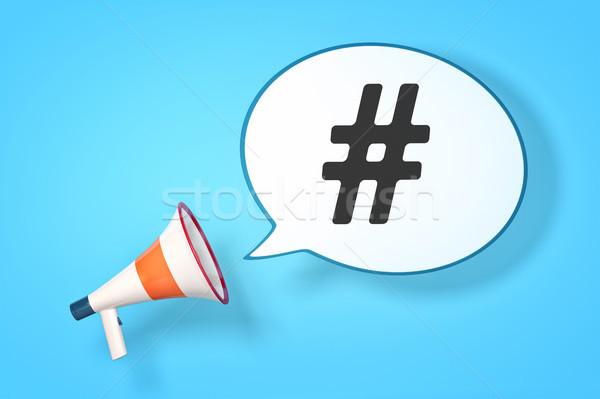 megaphone hashtag Stock photo © magann