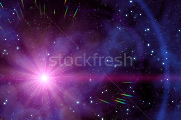 a strange sun in the deep space Stock photo © magann