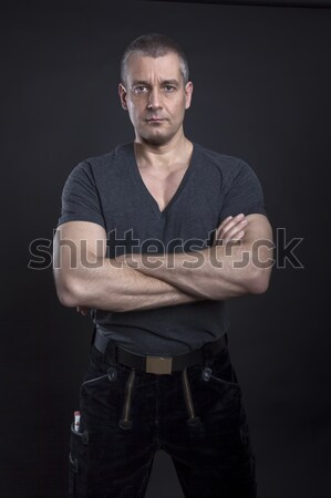 handsome male carpenter Stock photo © magann