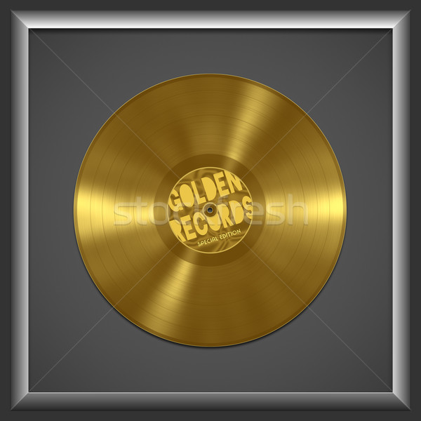 vinyl golden record Stock photo © magann