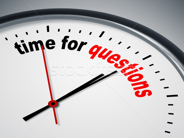 Stock photo: time for questions