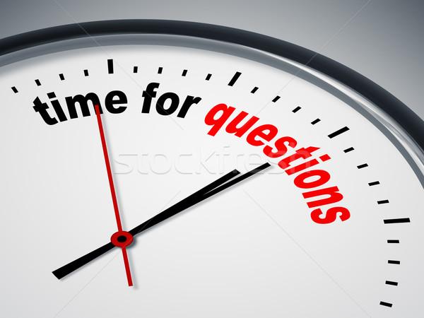 Tiempo preguntas imagen agradable reloj negocios Foto stock © magann
