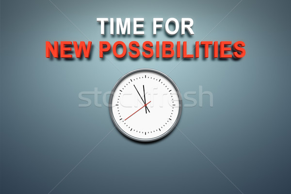 Time for new possibilities at the wall Stock photo © magann