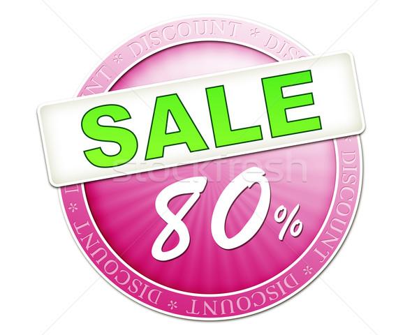 продажи кнопки до 80 изображение полезный красный Сток-фото © magann