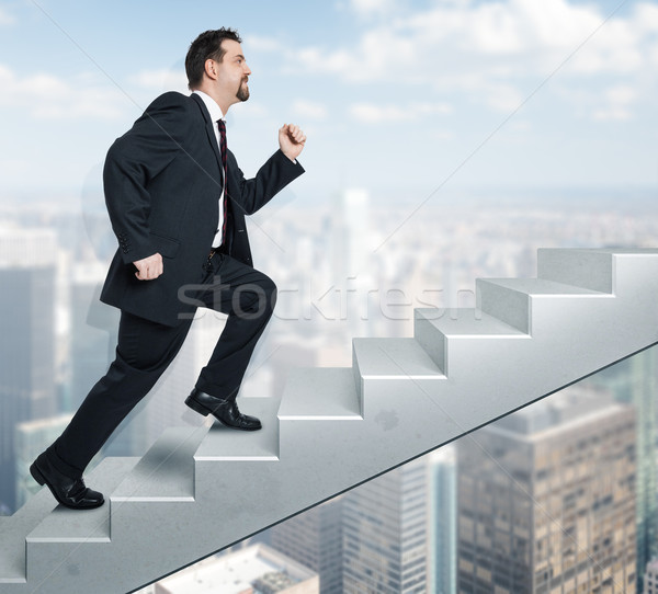 business man and stairs Stock photo © magann