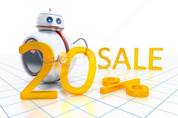 Stock fotó: édes · kicsi · robot · vásár · 20 · százalék