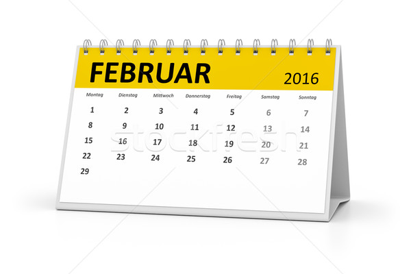 german language table calendar 2016 february Stock photo © magann