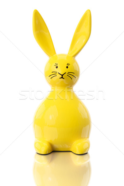 yellow easter bunny figure Stock photo © magann