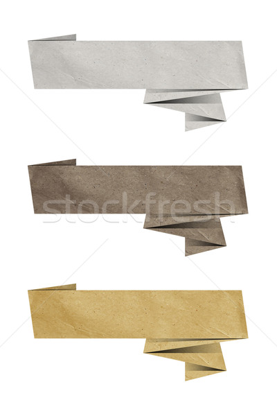 paper tag origami Stock photo © magann
