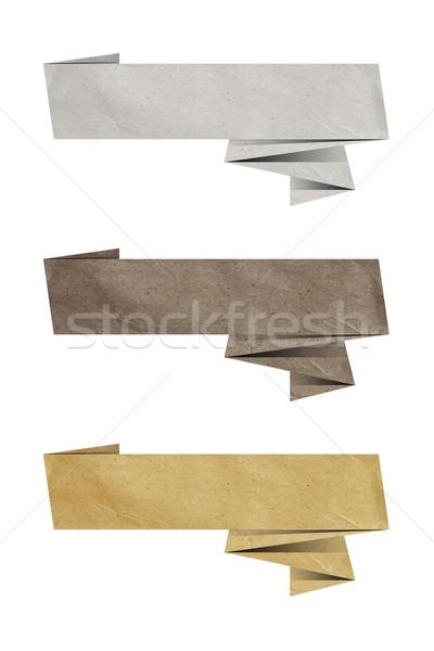 бумаги тег оригами три дизайна Сток-фото © magann